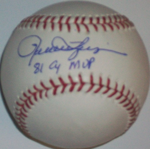 "Photo of Rollie Fingers ""81 CY MVP"" Autographed Baseball"