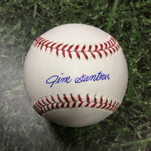 Jim Gantner Autographed Baseball