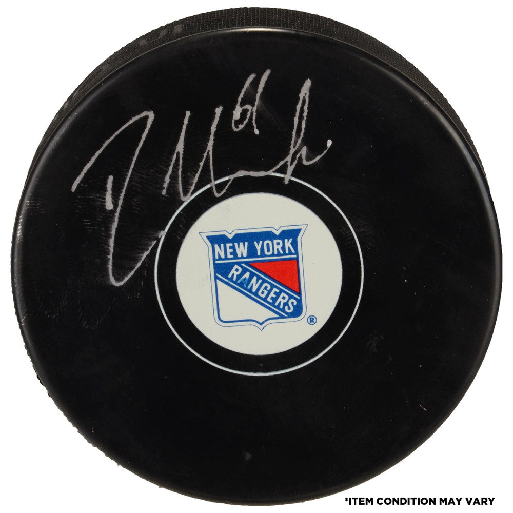 Rick Nash New York Rangers Autographed Hockey Puck - Imperfect Condition