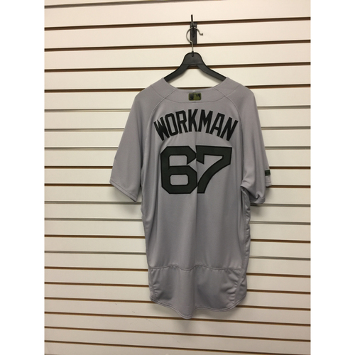 Brandon Workman Team-Issued 2017 Memorial Day Road Jersey