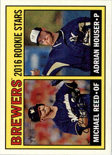 Photo of 2016 Topps Heritage #259 Adrian Houser RC/Michael Reed RC