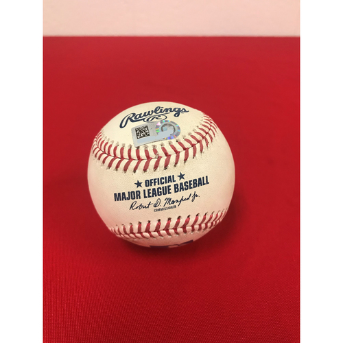 Photo of Game-Used Baseball - Max Scherzer Strikeout - 9/20/2018