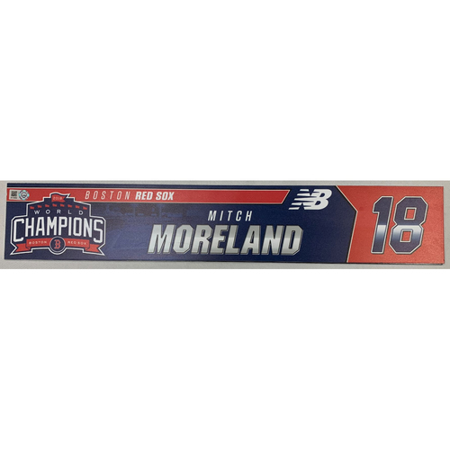 Photo of Mitch Moreland Team Issued June 9, 2019 Locker Tag