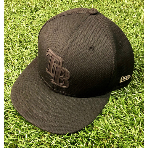 Photo of Game Used Players Weekend Cap (Black): Ryan Yarbrough - August 24, 2019 at BAL
