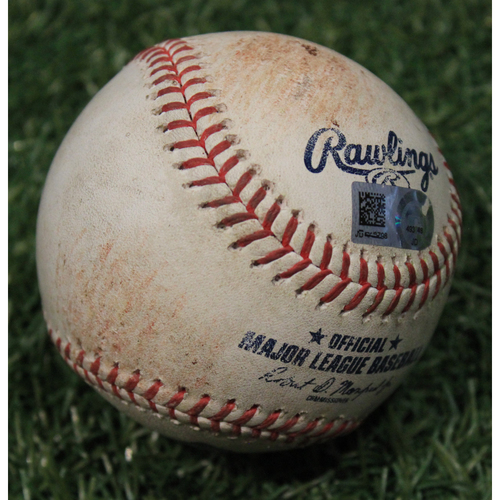Photo of Game-Used Baseball: Kyle Schwarber 390th Career Hit (CHC @ KC 8/6/20)