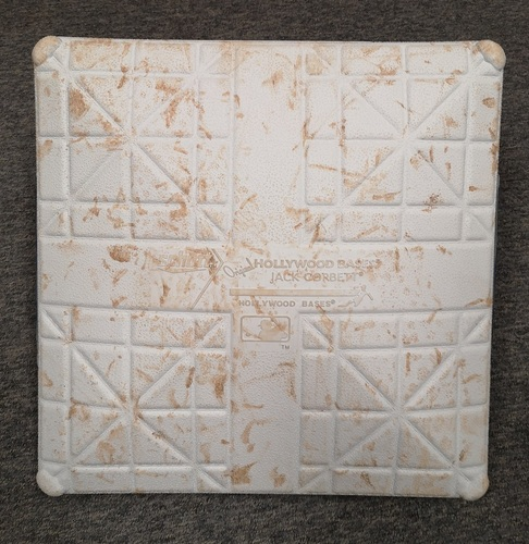 Photo of Authenticated Game Used Base: 2nd Base for Innings 1 to 3 (July 29, 20 vs WAS): MLB Debut for Nate Pearson and 1st Home Game of Season (in Washington)