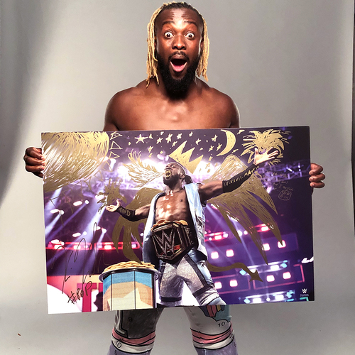 Photo of Kofi Kingston SIGNED and embellished large photo print