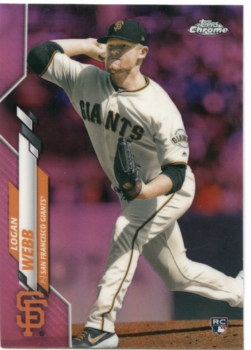Photo of 2020 Topps Chrome Pink Refractors #117 Logan Webb