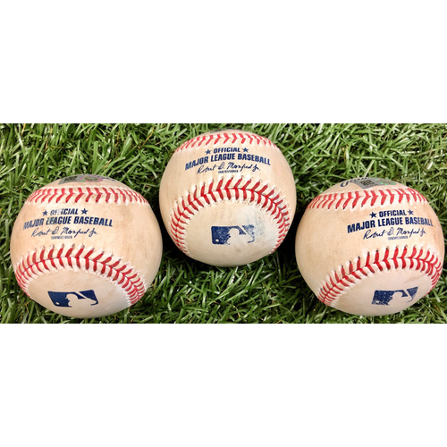 Photo of Game Used Baseball Package: Eric Thames, Kurt Suzuki and Juan Soto - September 15, 2020 v WSH