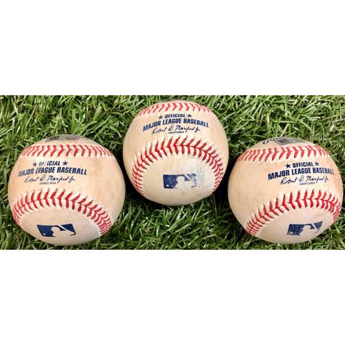 Game Used Baseball Package: Eric Thames, Kurt Suzuki and Juan Soto - September 15, 2020 v WSH