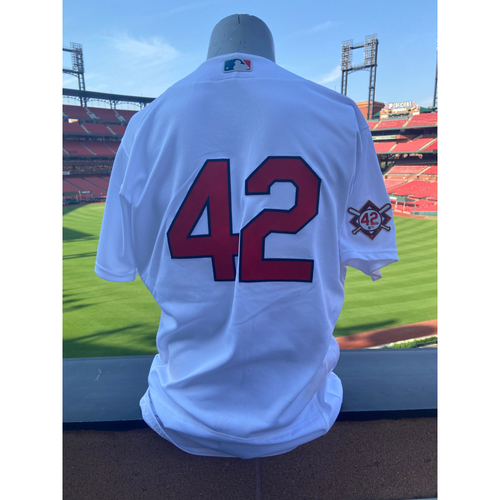 Photo of Cardinals Authentics: Team Issued Tommy Edman Jackie Robinson Day Jersey