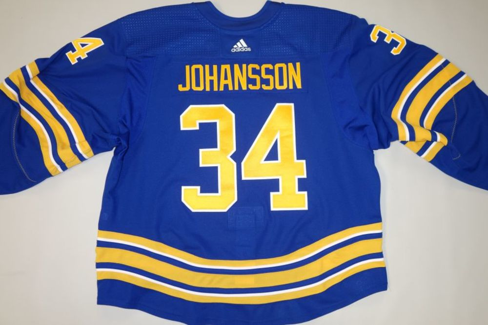 Jonas Johansson 2020-21 Buffalo Sabres Set 1 Home Jersey