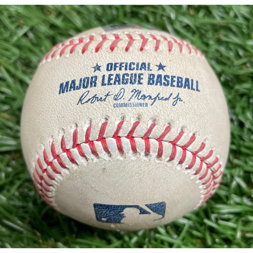 Photo of Spring Training Game Used Baseball: Willy Adames double off Kyle Wright - Bottom 2 - February 28, 2021 v ATL