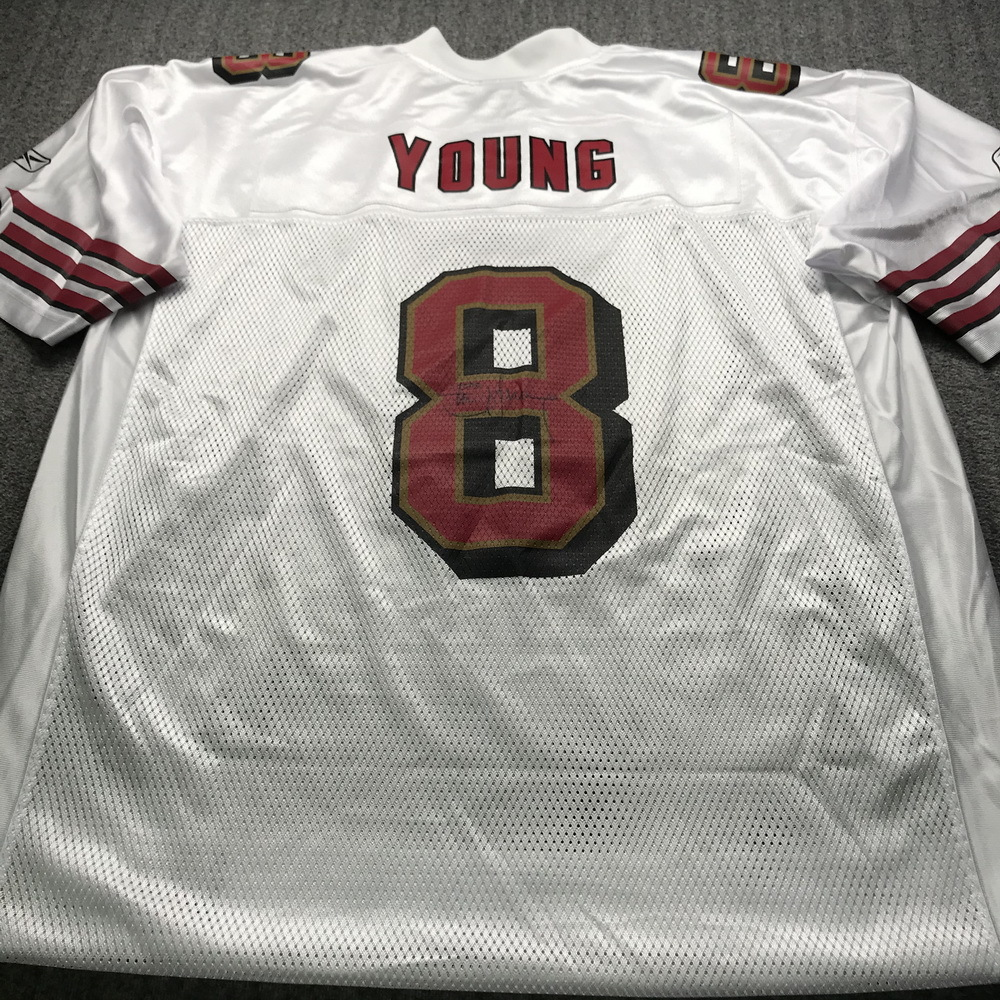 Legends - 49ers Steve Young Signed Replica Jersey size XL