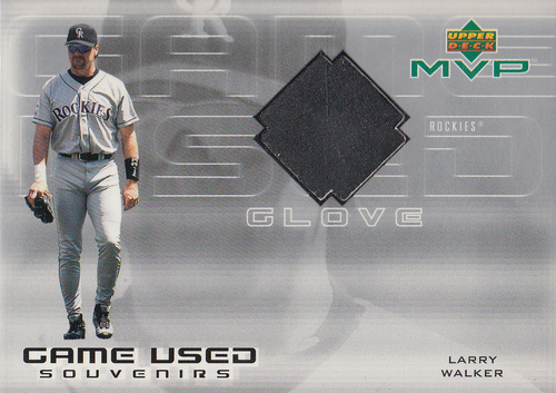 Photo of 2000 Upper Deck MVP Game Used Souvenirs #LWG Larry Walker Glove