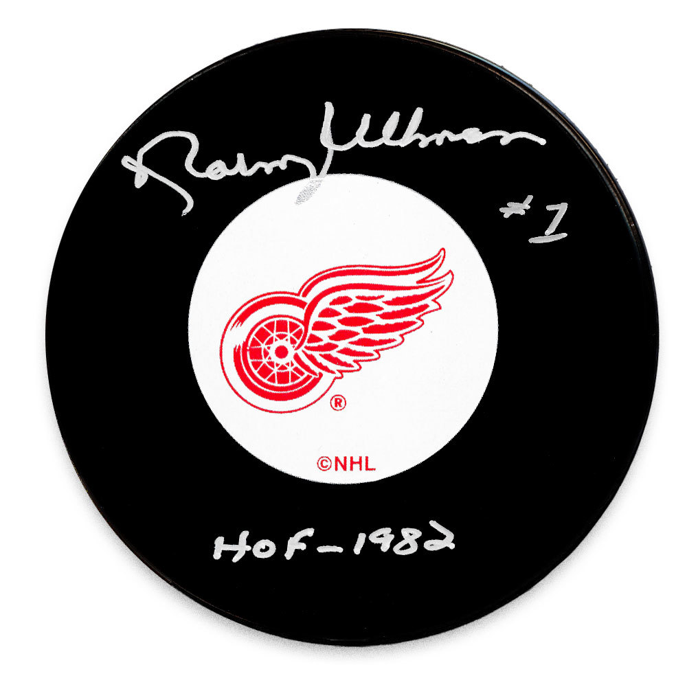 Norm Ullman Detroit Red Wings HOF Autographed Puck