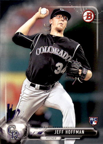 Photo of 2017 Bowman #4 Jeff Hoffman Rookie Card  -- Rockies post-season