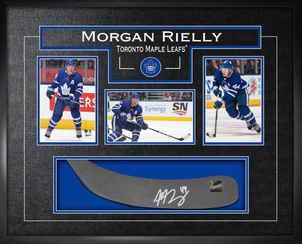 Morgan Rielly - Signed Stickblade Leafs w/3-4x6 Photos