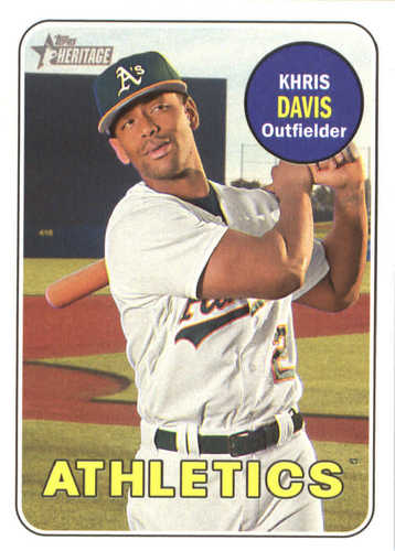 Photo of 2018 Topps Heritage #260 Khris Davis