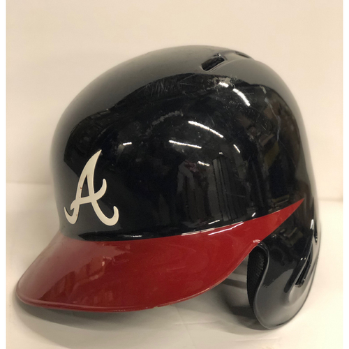 Photo of Ozzie Albies Game-Used Postseason Batting Helmet - Right Handed - Worn 10/7/18 - Size 7 1/4
