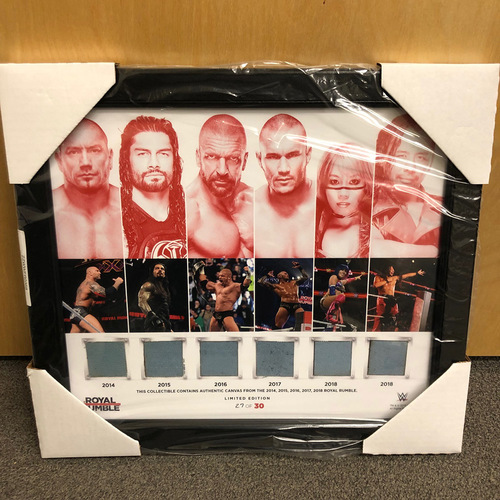 Royal Rumble 6-Canvas Limited Edition Plaque