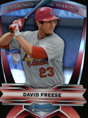 Photo of 2012 Bowman Chrome Legends In The Making Die Cuts #DF David Freese