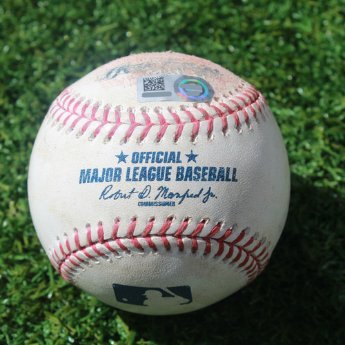 Photo of Game-Used Baseball: Mallex Smith 20th Career Triple (SEA @ KC - 4/11/19)
