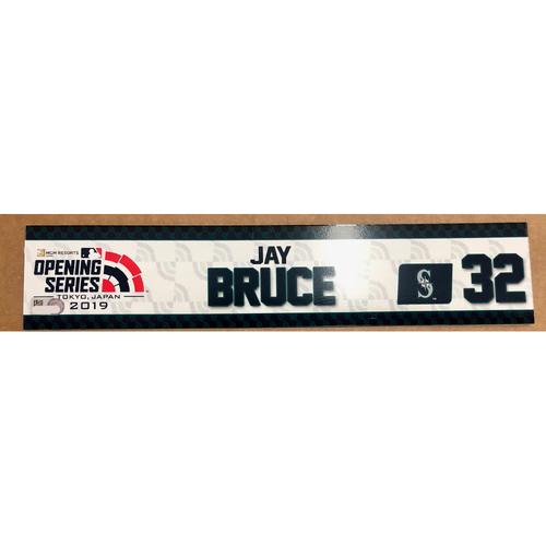 Photo of 2019 Japan Opening Day Series - Game Used Locker Tag - Jay Bruce -  Seattle Mariners