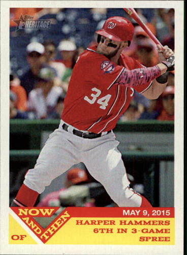 Photo of 2015 Topps Heritage Now and Then #NT15 Bryce Harper