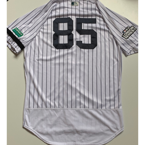 Photo of 2019 London Series - Game-Used Jersey - Luis Cessa, New York Yankees vs Boston Red Sox - 6/29/19
