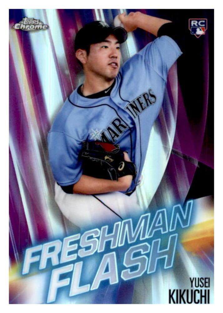 2019 Topps Chrome Freshman Flash #FF8 Yusei Kikuchi