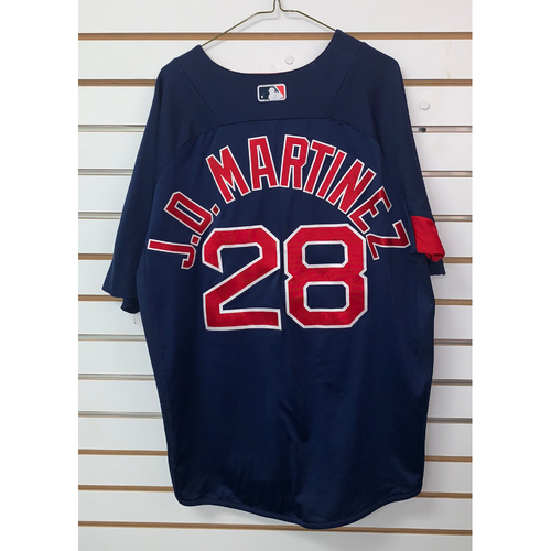 JD Martinez Team Issued Road Batting practice Jersey