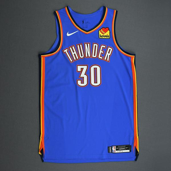 Image of Deonte Burton - Oklahoma City Thunder - Game-Issued Icon Edition Jersey - 2019-20 Season