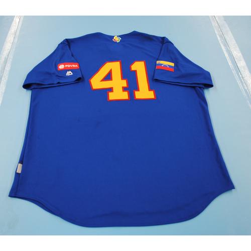 2017 World Baseball Classic: Venezuela Batting Practice Jersey #41 - Victor Martinez - Size XL