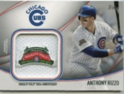 Photo of 2020 Topps Jumbo Special Event Jersey Sleeve Patches #JSESAR Anthony Rizzo