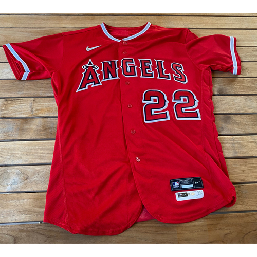 Photo of David Fletcher Game-Used Jersey from the 9/25/20 Game vs. LAD - Size 44