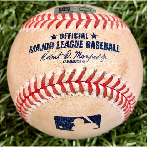 Photo of Game Used Baseball: Scott Kingery single off Charlie Morton - September 25, 2020 v PHI