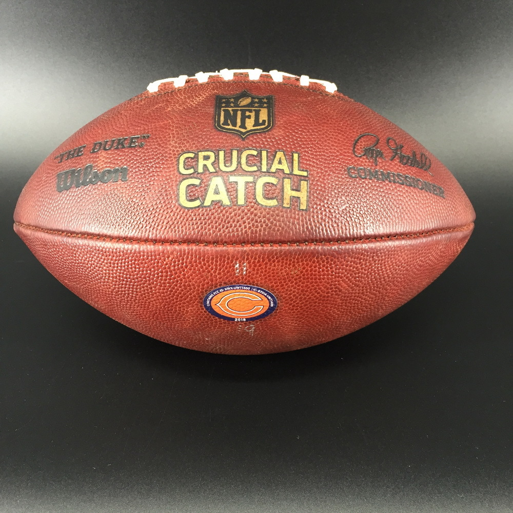 Crucial Catch - Bears Game Used Football (10/21/18)