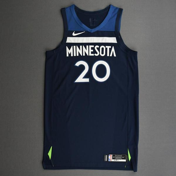 Image of Josh Okogie - Minnesota Timberwolves - Kia NBA Tip-Off 2020 - Game-Worn Icon Edition Jersey