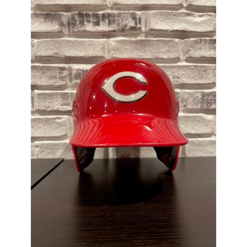 Reds Double-Ear Flap Helmet -- Size: 7 1/4 (Not MLB Authenticated)