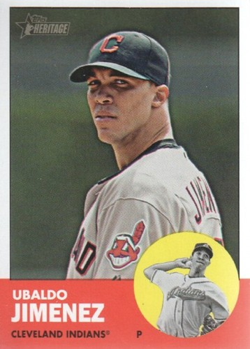 Photo of 2012 Topps Heritage #227A Ubaldo Jimenez