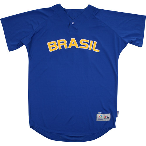 Photo of 2013 World Baseball Classic: Tiago Magalhaes (Brazil) #60 Game-Used Batting Practice Jersey