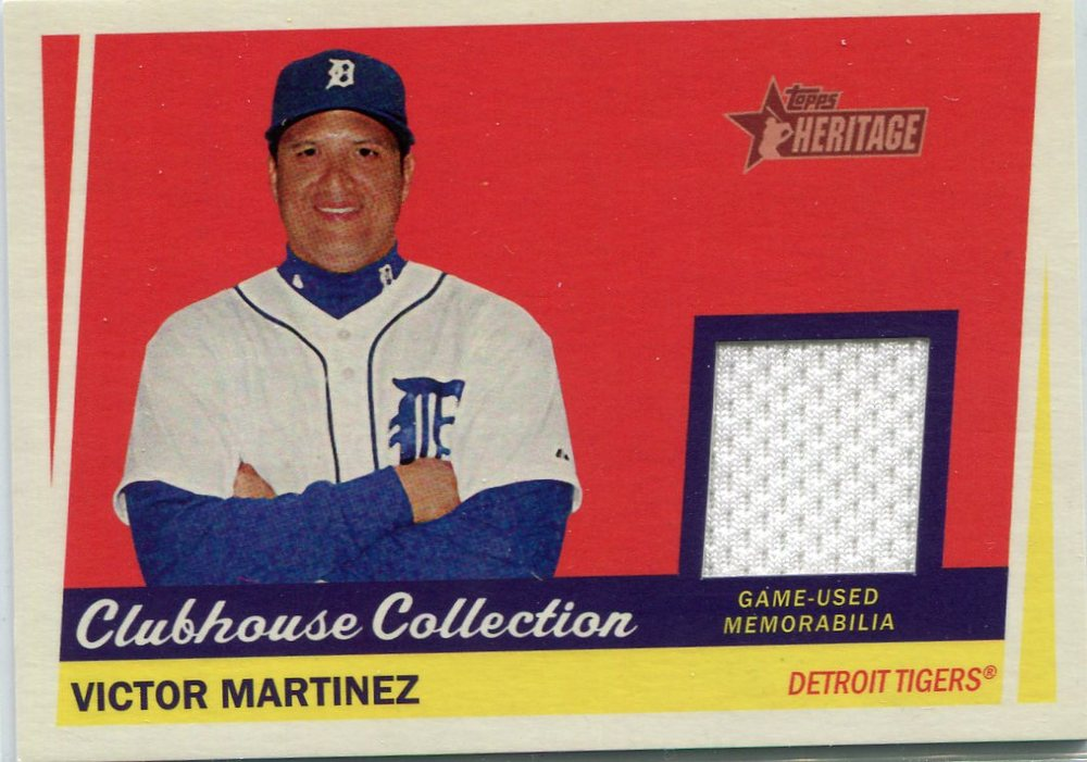 2016 Topps Heritage Clubhouse Collection Relics game worn jersey Victor Martinez