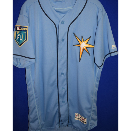 Photo of 2018 Spring Training Game Used Jersey: Kevin Kiermaier - Jersey Size - 44