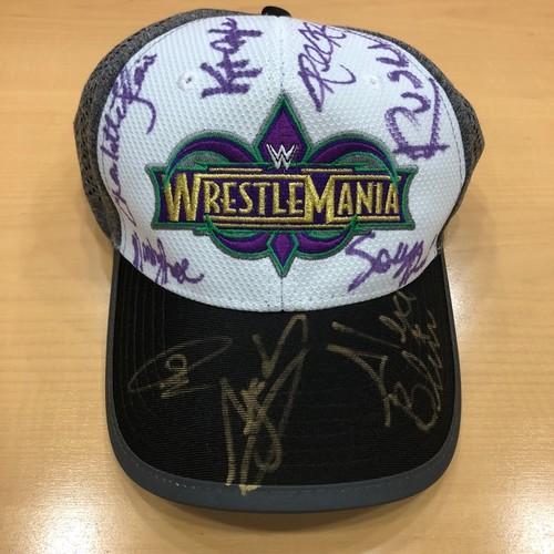 Photo of WrestleMania 34 SIGNED Hat (Multiple Superstars)