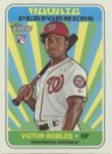 Photo of 2018 Topps Heritage Rookie Performers #RPVR Victor Robles
