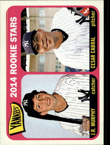 Photo of 2014 Topps Heritage #226 Cesar Cabral RC/J.R. Murphy RC
