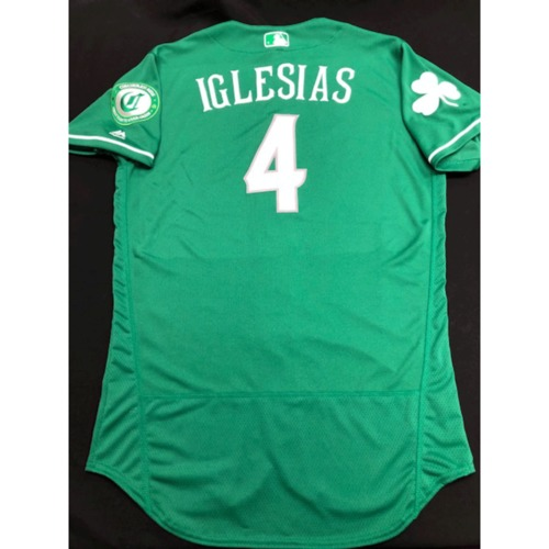 Photo of Jose Iglesias -- Team-Issued Jersey -- 2019 St. Patrick's Day