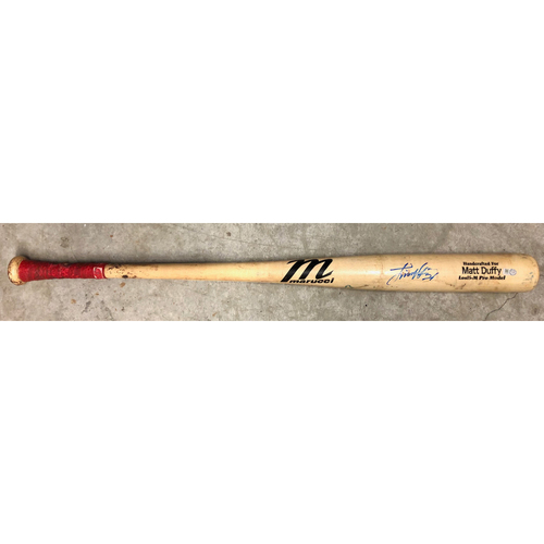 Photo of Rays Baseball Foundation: Game Used Broken Bat - Ji-Man Choi - July 1, 2019 v BAL - Matt Duffy Model