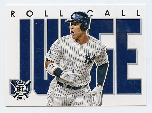Photo of 2020 Topps Big League Roll Call #RC29 Aaron Judge